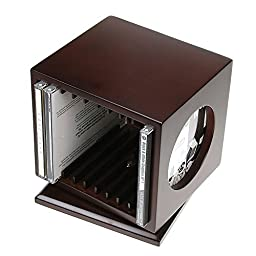 Revolving Wooden DVD/Blu-Ray Holder with Picture Frame