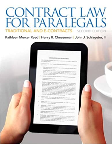 Contract Law for Paralegals (2nd Edition) 2nd Edition