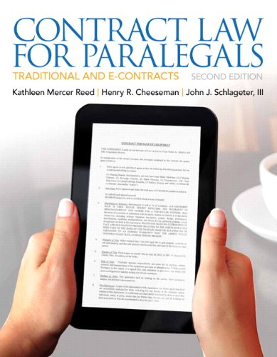 Contract Law for Paralegals (2nd Edition)
