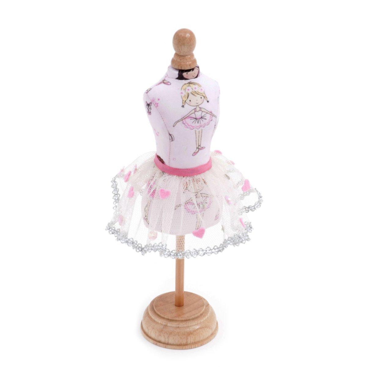 Hobby Gift Novelty Ballerina Dress Form Pin Cushion 7 x 7 x 13cm (d/w/h)