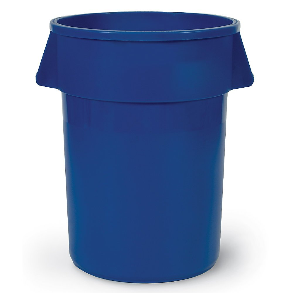 Food-Grade Waste Container, 20 gal, Bl