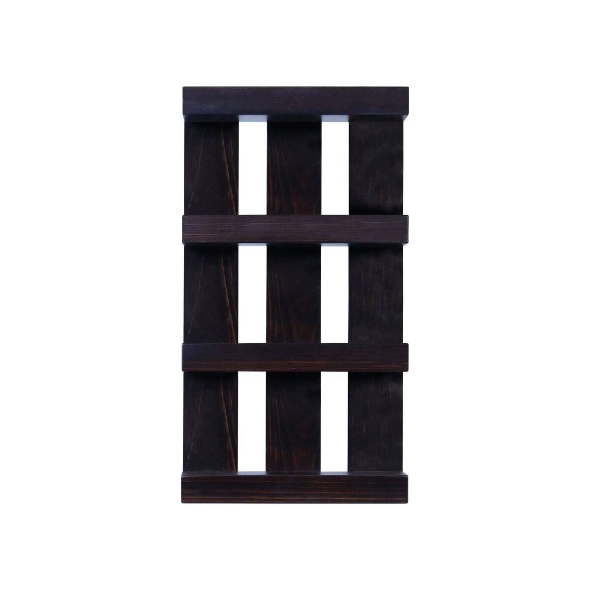 Solid Wood 4 tier Wall Mount Shelves Home Decor Decoration for Bathroom, Living Room, Kitchen and Entryway Made in the USA by Rooms Organized (Expresso, 22'' h x 15'' w x 4.25'' deep)