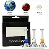 3 Set Moon Drop Fidget Desk Toy – Gravity Defying Hand Spinner Toy with the Triple Desktop Stand/ Displaying Gravity on the Moon,Earth and Mars by Baleauty