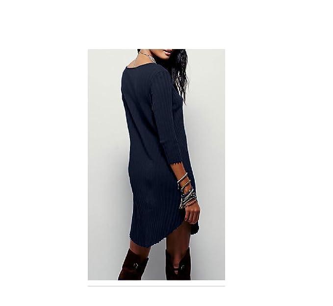 Shein - Vestido - Túnica - para Mujer Azul Marino L