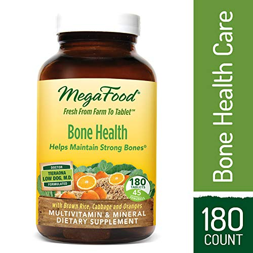 Cheap MegaFood – Bone Health, Multivitamin Support for Bone Strength, Muscle Function, Healthy Mood and Joints with Calcium, Vitamin D3, and Magnesium, Vegetarian, Gluten-Free, Non-GMO, 180 Tablets