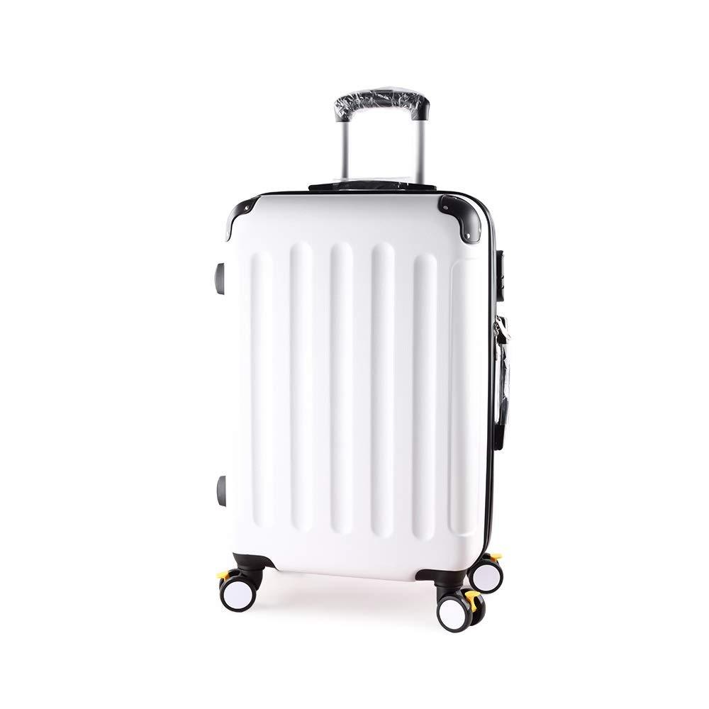 XF 拡張ホワイトスーツケース男性トロリーケースパスワードボックススーツケース女性大容量スーツケース学生ボックスブレーキホイール、から選ぶべき5つのサイズ トラベルバッグスーツケース (Size : 34cmX21.5cmX55cm) B07T3J1B7P  34cmX21.5cmX55cm