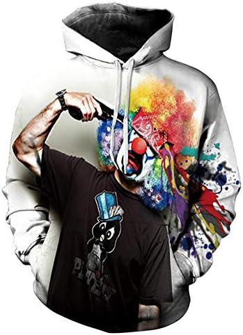 Sweatshirts Tops T-Shirts Kapuzenpullover Herbst Winter Mode Lion Digital PrintingMen/Frauen Hoodies Cap Windbreaker Jacke 3D Sweatshirts^ Picture_Color_XL