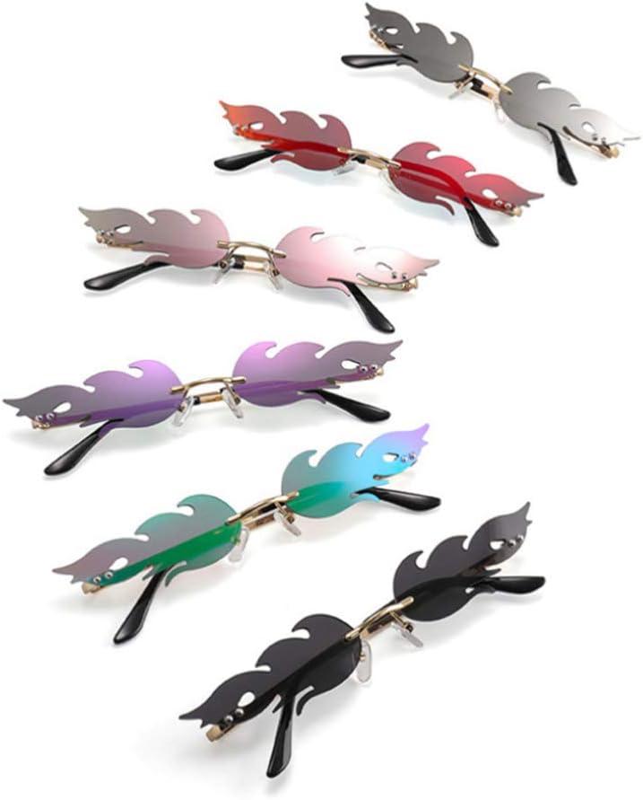 NUOBESTY Occhiali a Forma di Fuoco Occhiali a Forma di Fiamma Occhiali da Vista Occhiali Favori per Foto Puntelli Cosplay Vestire Costume Viola