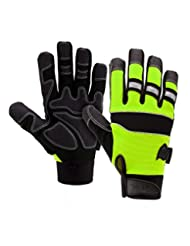 West Chester 86525G Pro Series Safety Gloves, Large, Green