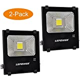 LEPOWER 2 Pack 20W LED Flood Light, Super Bright Outdoor Work Light, 100W Halogen Bulb Equivalent, IP66 Waterproof, 6500K,1600lm, Outdoor Led Lights(Daylight White 2-Pack)