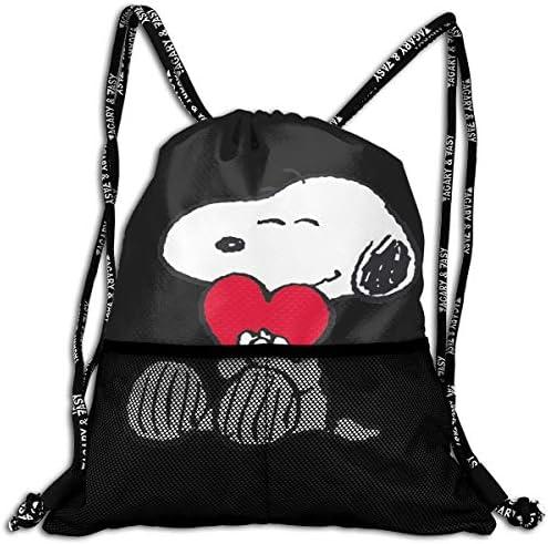 スヌーピー Snoopy ナップサック アウトドア ジムサック 防水仕様 バッグ 巾着袋 スポーツ 収納バッグ 軽量 バッグ 登山 自転車 通学・通勤・運動 ・旅行に最適 アウトドア 収納バッグ 男女兼用 ジムサック バック