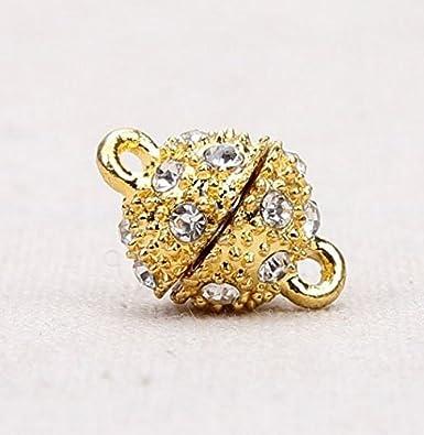 Charmant d/élicat Dor/é Couleur argent Tone mousquetons de Fermoir magn/étique pour bijoux Collier et bracelets 3/pcs