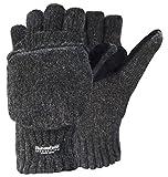 Korlon-Wool-Knitted-Convertible-Fingerless-Gloves-with-Mitten-Cover-Dark-Gray