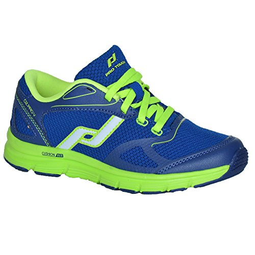 Tecno Pro Unisex-Kinder Run-Schuh oz Pro V Jr. Laufschuhe Blue Dark/Blue/Green Lime