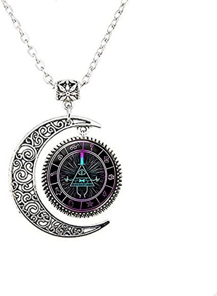 calhepco Gravity Falls Toy Mysteries Bill Cipher Wheel Steampunk Pendant Necklace Gift Cap Fashion Jewelry