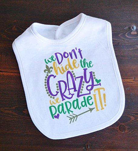 Baby Bib - Mardi Gras - Baby Shower Present ()