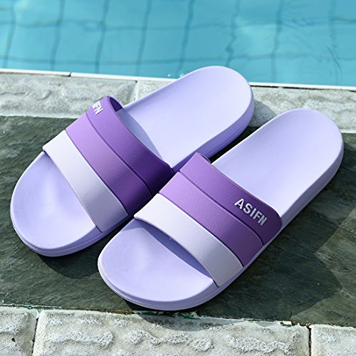Bathroom Purple Men and Slipper Women Premium ALOTUS Indoor Slip Anti FqUHzxw