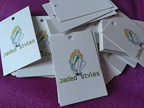 FidgetGear 300pcs Custom Made Printed Hang Tags 2 Dided Clothing Tag Craft Card 300GSM from FidgetGear