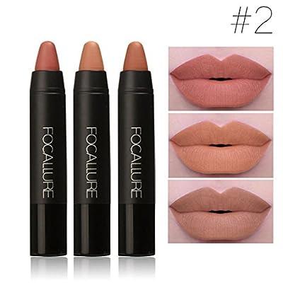 ShungHO 3PCS/Set Women Waterproof Beauty Makeup Pencil Lipstick Lip Gloss Pen Cosmetics