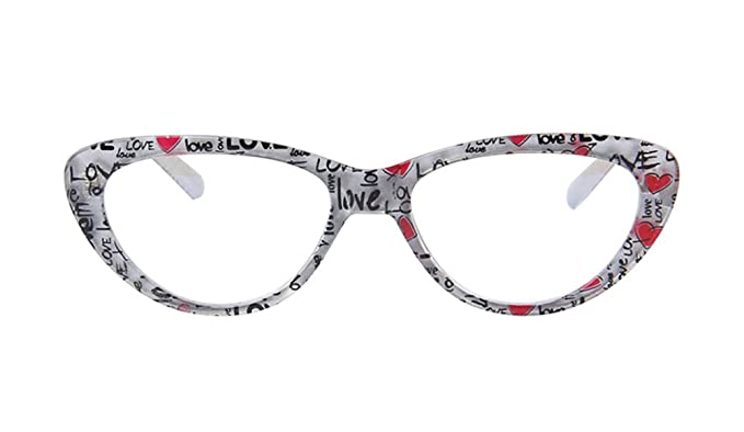 Amazon.com: Agstum Womens Cat Eye Computer Glasses Frames Optical ...