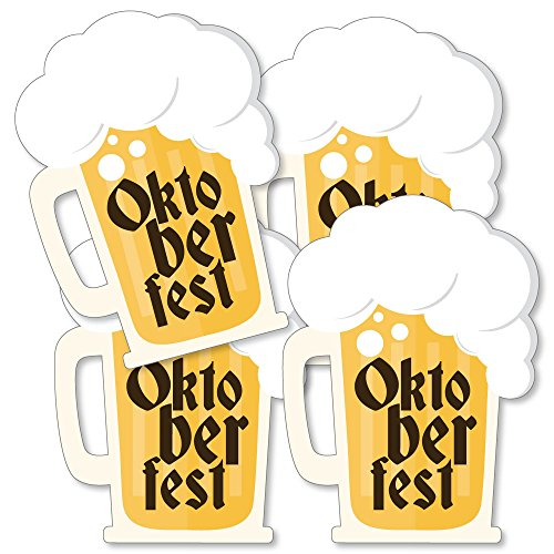 Oktoberfest - Beer Mug Decorations DIY German Beer Festival Essentials - Set of 20 -