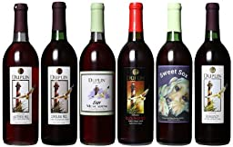 Duplin Wine Cellars Six Reds: Burgundy, Hatteras Red, Carolina Red, Black River Red, Sweet Sox Red and Easy Mixed Pack 6 x 750 mL Red Wine