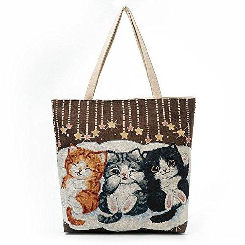 sac chat fille fourre toile tout femmes sac animaux Femelle atwxd8zq8