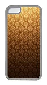 Customized Case Golden Vintage TPU Transparent for Apple iPhone 5C