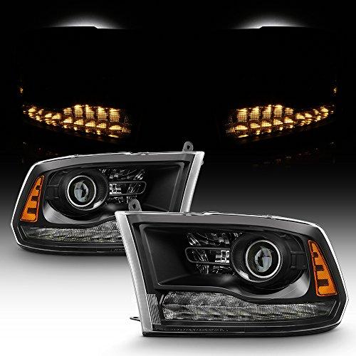 2500 Left Headlight (For 2013-2018 RAM 1500 2500 3500 Black LED Projector Headlights Left+Right Pair Set)