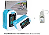 IVORIE Finger Pulse Oximeter Heart Rate Monitor and Precision Tip Squeeze Bottle