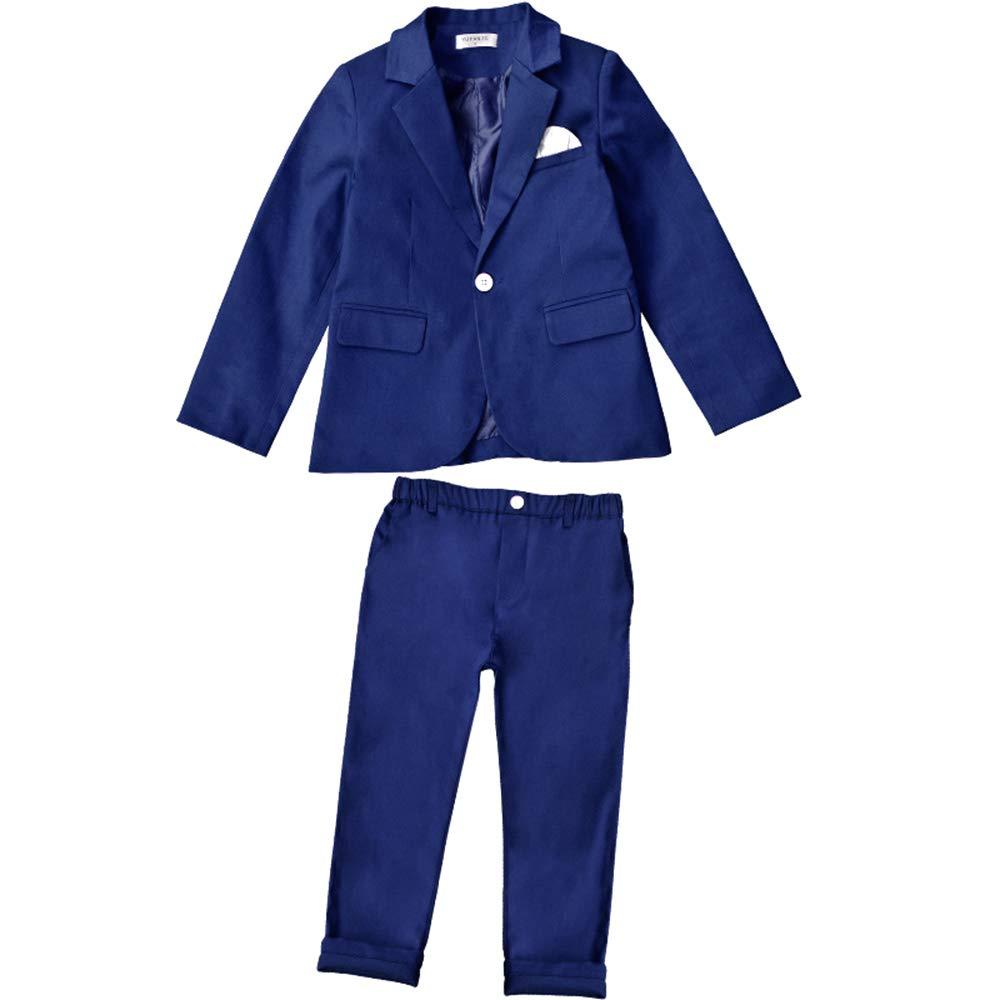 KINDOYO Boys Kids Blazer Suit Formal Baptism Suits Set Wedding Party Outfits