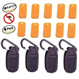 Mosquito Repellent clip( 4-PACK) Viaky Natural Mosquito and Insect Repellent Bracelets Anti-mosquito clip + 10 Refills/ Powerful Mosquito Bite Prevention Formula
