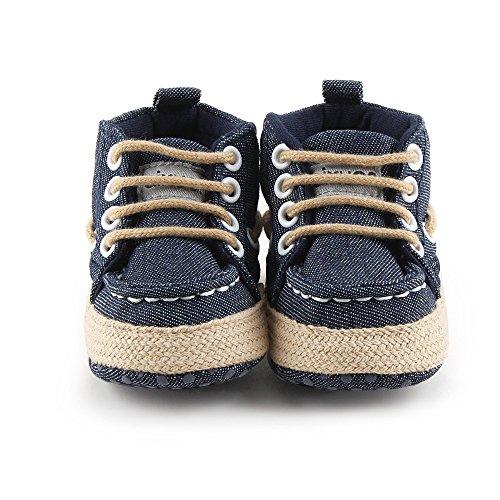 Fire Frog Baby Indoor Shoes - Zapatos primeros pasos de Lona para niño Azul