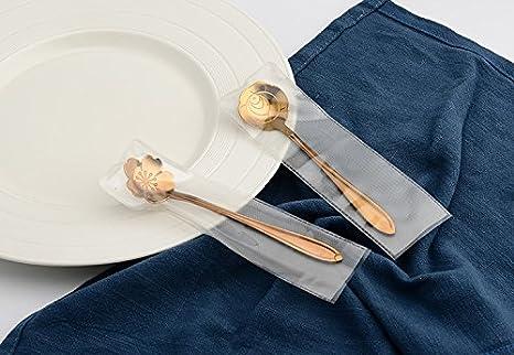 Silver Monbedos 8Pcs Kitchen Creative Flower Stainless Steel Coffee spoon Sugar Spoon Ice Cream Spoon Teaspoon Tool Gift