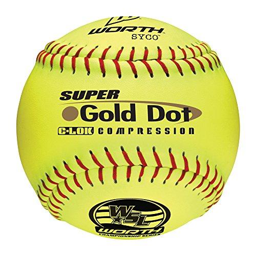 Worth Sports Pro Tac Super Gold Dot W00517272 Softball 12'' 44/400, Yellow by Worth