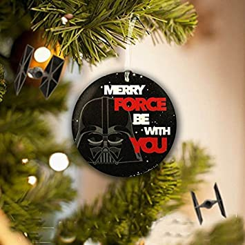 Star Wars Christmas Tree Decoration Merry Force Be With You Darth Vader Free Delivery By Disney