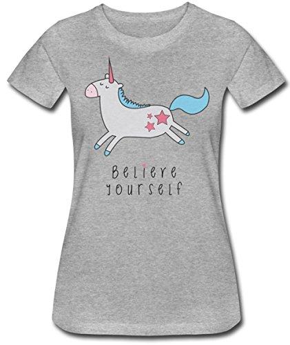 Believe Yourself Cute Unicorn Women's T-Shirt