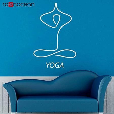 zqyjhkou Yoga Etiqueta de la Pared Calcomanía de Vinilo ...
