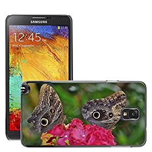 Etui Housse Coque de Protection Cover Rigide pour // M00115592 Mariposa Animal Insecto Vida Silvestre // Samsung Galaxy Note 3 III N9000 N9002 N9005