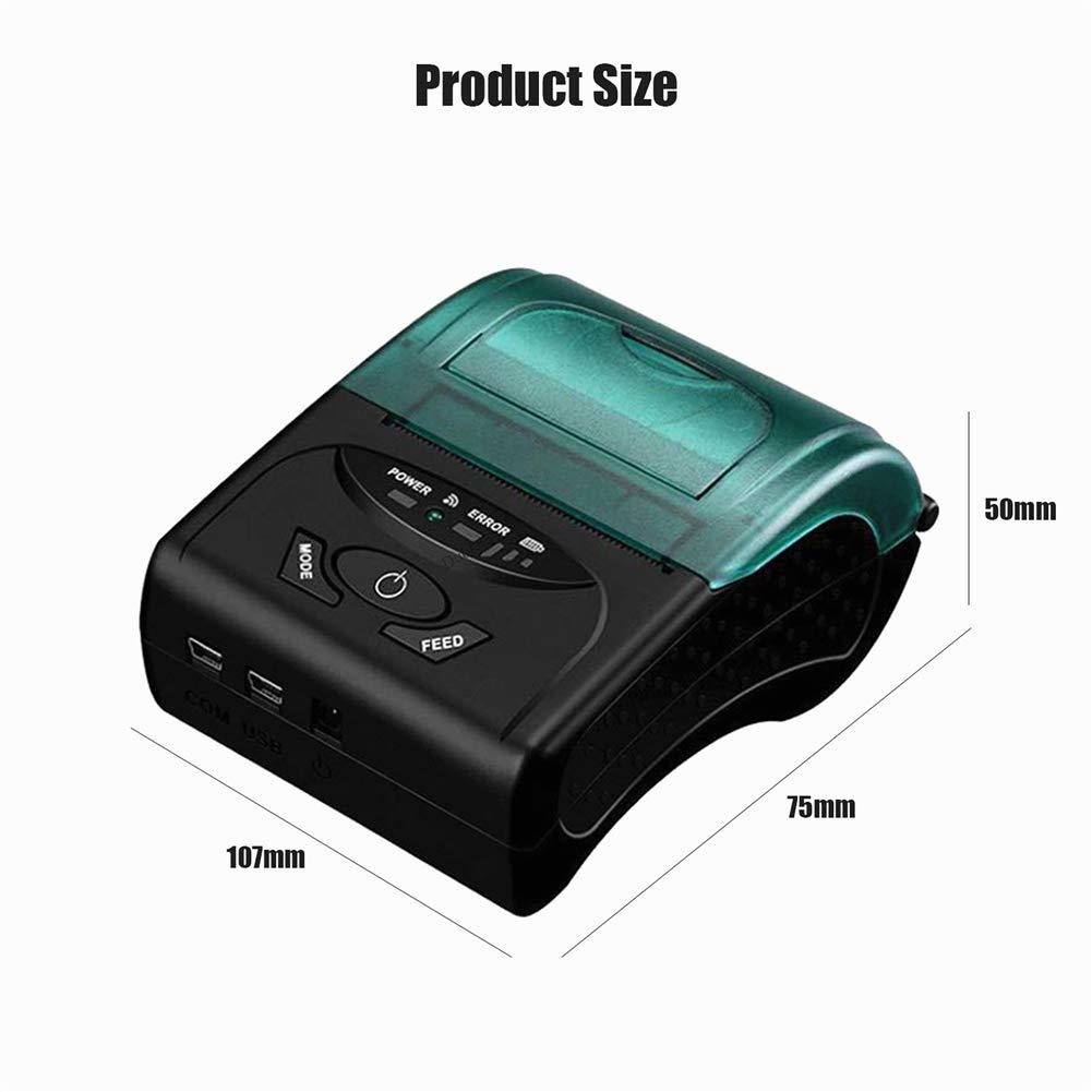 Impresora térmica portátil para recibos, mini impresora móvil ...