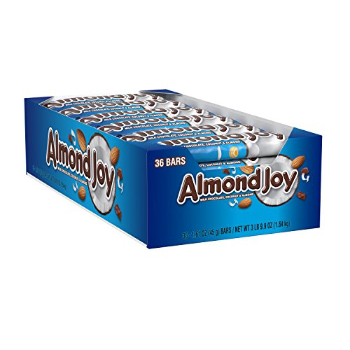 ALMOND JOY, Chocolate Coconut Candy Bar (Pack of 36) -