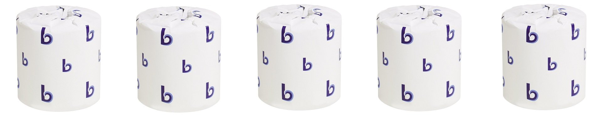 Boardwalk 6150 White Embossed 2-Ply Standard Toilet Tissue, 500 Sheets per Roll (Case of 96) (5-(Case of 96))