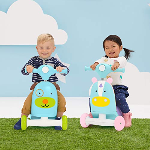 51%2BA9lUCkfL - Skip Hop Kids 3-in-1 Baby Activity Walker & Ride On Scooter Wagon Toy, Dog