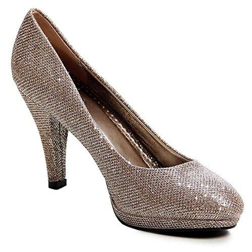 de Otros dorado Zapatos topschuhe24 Mujer de Para Vestir OwTFSq