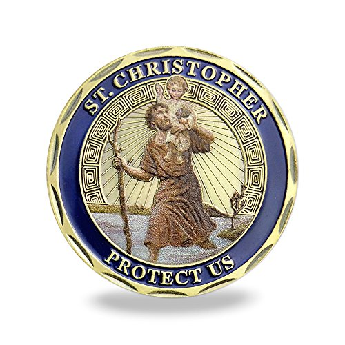 Patron Saint of Travelers St Christopher Challenge Coin For Man (Challenge Coin Medal)