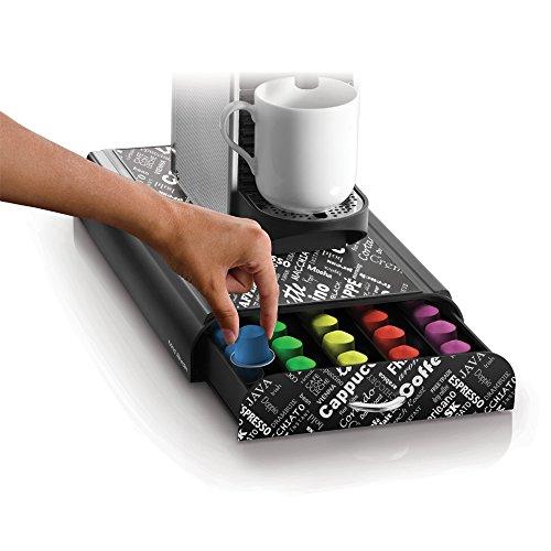 mind reader 39 anchor 39 50 capacity nespresso capsule drawer black print buy online in uae. Black Bedroom Furniture Sets. Home Design Ideas