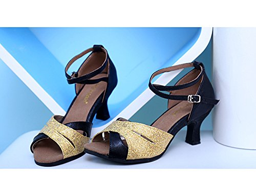 Sandalen Latein 5 Damen Dayiss Tanzschuhe Schwarz Schuhe Damen in Farben xqPAw0Z