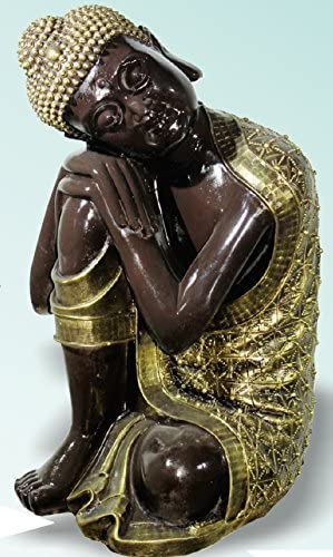 DEGARDEN AnaParra Figura Decorativa Buda de hormigón-Piedra para jardín o Exterior 63cm. Dorado: Amazon.es: Jardín