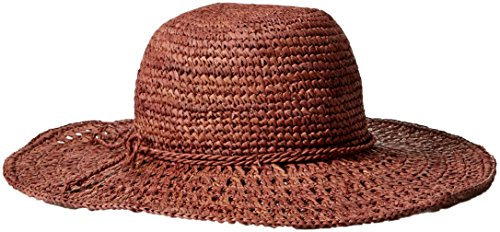 Boho-Chic Vacation & Fall Looks - Standard & Plus Size Styless - Lucky Brand Women's Crochet Raffia Floppy, Pink, One Size