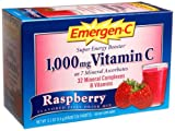 Emergen-C (30 Count, Raspberry Flavor) Dietary Supplement Drink Mix With 1000mg Vitamin C, 0.32 Ounce Packets, Caffeine Free